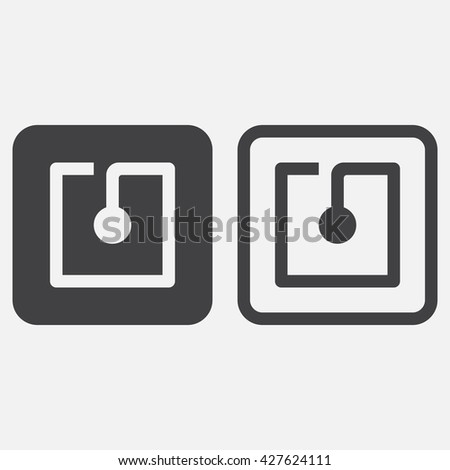 nfc line icon, outline and solid vector logo, linear pictogram isolated on white, pixel perfect illustration