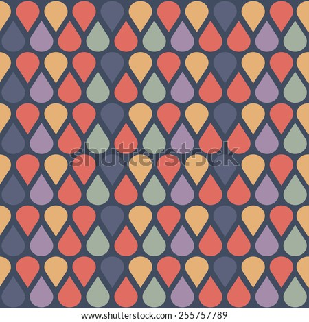 Nice abstract pattern with simple shapes. Seamless kiddie ornament. Colorful background. - stock vector