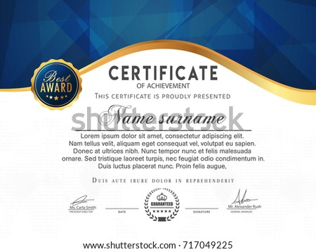 Nice And Beautiful Certificate Design Templates With Nice And Creative  Illustration.  Certificate Designs Templates