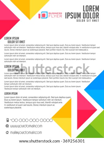 nice and beautiful vector business flyers or brochures with creative design and colour combination. - stock vector