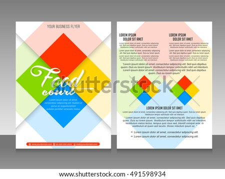 Nice Beautiful Vector Templates Business Flyers Stock Vector 2018