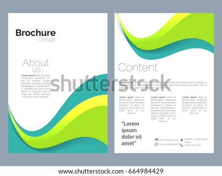 Vector brochure design stock vector 166231940 shutterstock for Nice brochure templates