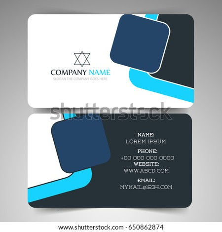 Nice creative business card visiting card stock vector royalty free nice and creative business card or visiting card templates with creative design illustration reheart Gallery