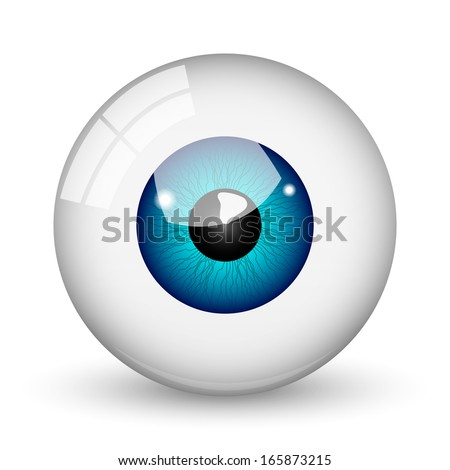 Nice blue eye ball  - stock vector
