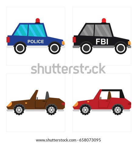 towing truck side view cartoon illustration stock vector. Black Bedroom Furniture Sets. Home Design Ideas