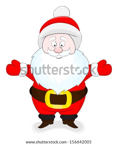 Nice cartoon Santa Claus  - stock vector