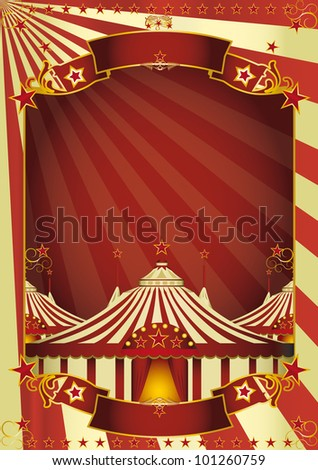 Nice circus big top. A circus poster with three big tops for your advertising - stock vector