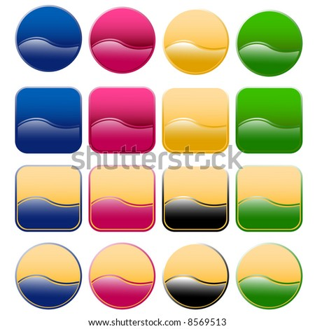 nice colored glue-like button set very simple to set new colours