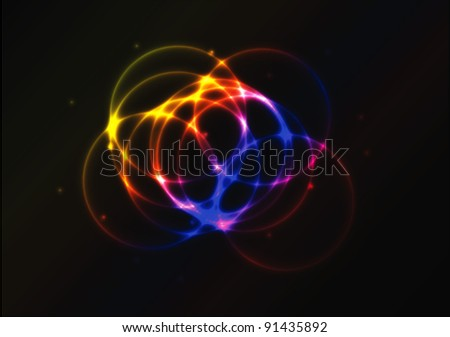 Nice colorful glowing circle vector background for your creative work