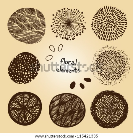 nice floral elements - stock vector
