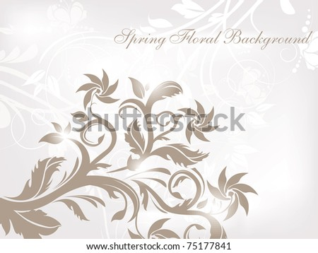 Nice Floral vector background for your design