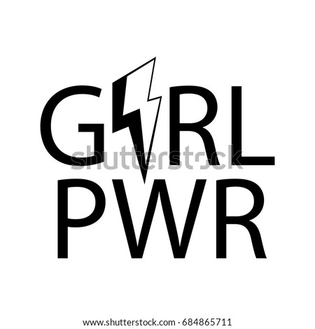 nice girl pwr.fashion slogan for shirt and apparels graphic vector print.t-shirt,poster, wall decoration, pin, patch vintage rock style.
