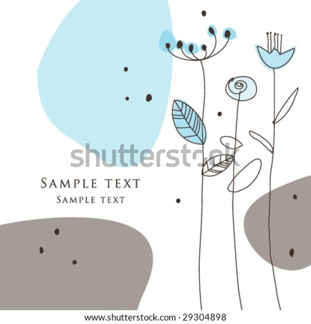 Nice Greeting card - template Cute simple Artistic hand drawn illustration - doodle For baby shower, greetings, invitation, mother's day, birthday, party, wedding - stock vector