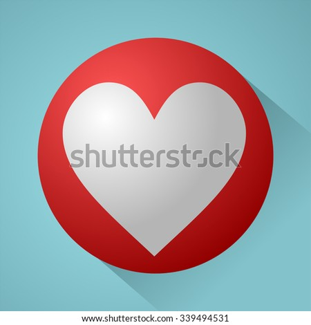 nice heart symbol - stock vector