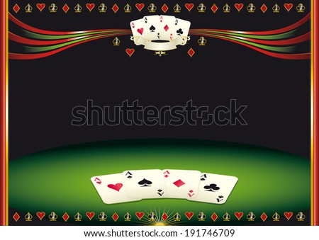 Nice horizontal  poker background. Use this background for a screen in a casino - stock vector