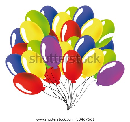 nice illustration of a ballon isolated on white - stock vector