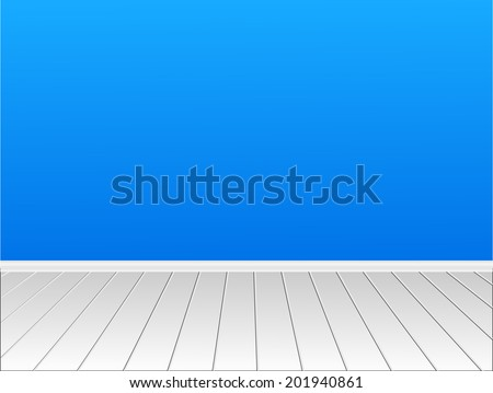Nice room with a wall for your content. vector - stock vector