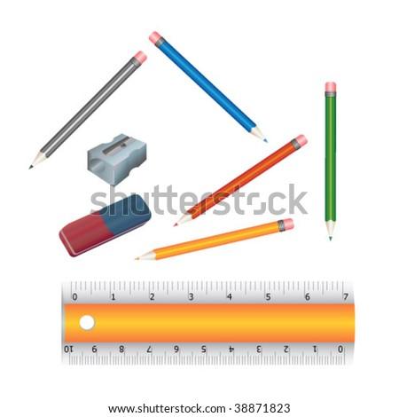 Nice School set vector - stock vector