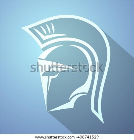 nice spartan symbol - stock vector