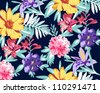 nice summer feeling pattern.tropical pattern,floral pattern - stock vector