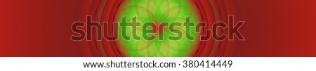 Nice symmetric mandala in many colors as banner