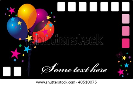 Nice vector balloon on dark background - stock vector