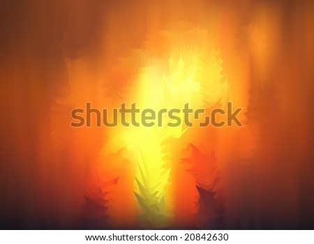 nice vector fire flame - stock vector