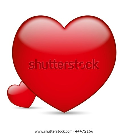 Nice Vector heart - aqua - stock vector