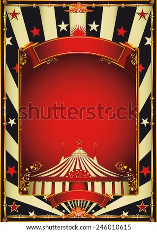 Nice vintage circus entertainment. A vintage circus background with a red frame for your entertainment - stock vector