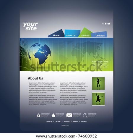 Nice Website Template - stock vector