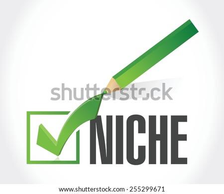 niche check mark illustration design over a white background - stock vector