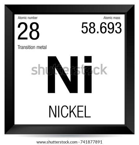 Nickel symbol element number 28 periodic stock vector 741877891 nickel symbol element number 28 of the periodic table of the elements chemistry urtaz Images