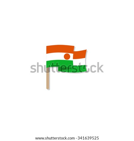 Niger Flag. Vector - stock vector