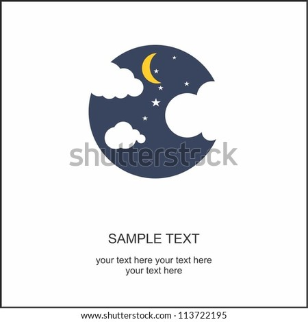Night - stock vector