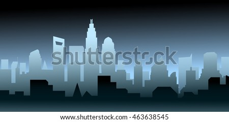 Night Charlotte North Carolina Skyline-Vector