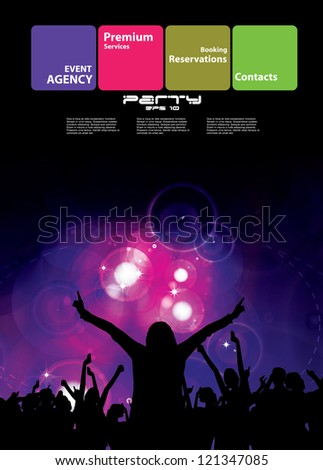 Night club. Party. Vector illustration - stock vector