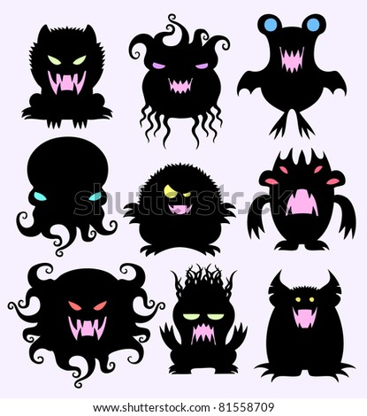 Night creatures - stock vector