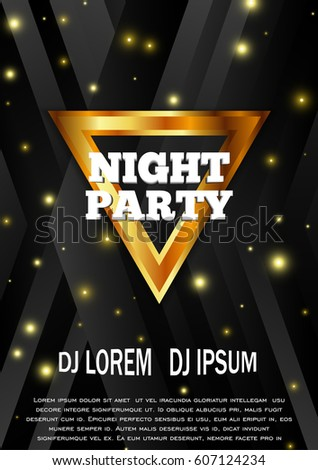 Night Party Flyer Template Club Vector Stock Vector Hd Royalty Free