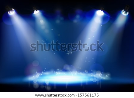 Night performance. Vector illustration. - stock vector