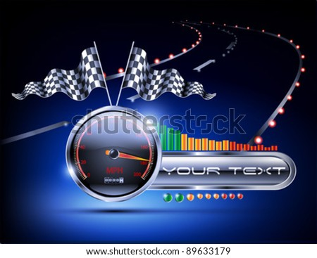 night road racing background - stock vector