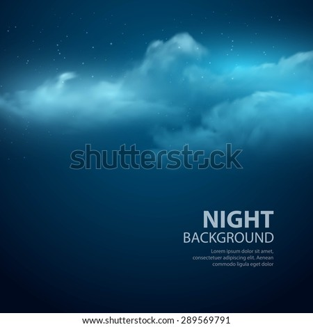 Night sky abstract background. Vector illustration EPS 10 - stock vector