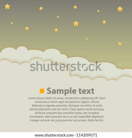 Night sky background, Stars background, Vector illustration