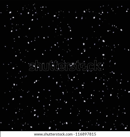 Night sky background with many small stars - stock vector