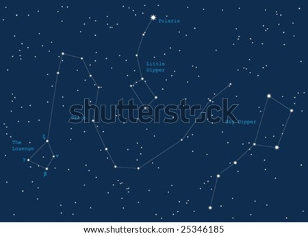 night sky constiolations - vector
