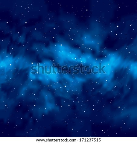 Night sky with stars. Vector. - stock vector