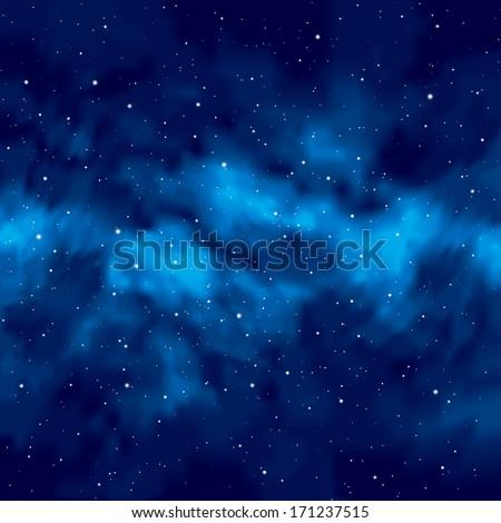 Night sky with stars. Vector. - stock vector