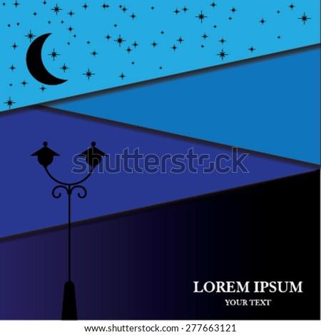 Night street light - stock vector