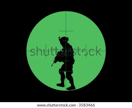 Night vision sight - stock vector