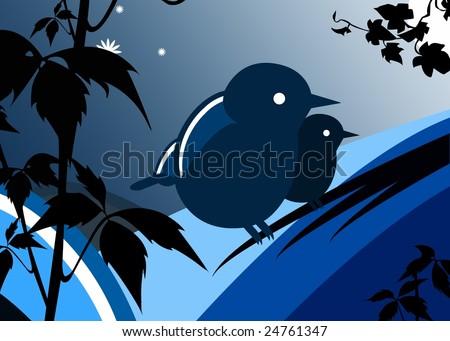 Nightbirds Stock Vector 24761347 - Shutterstock