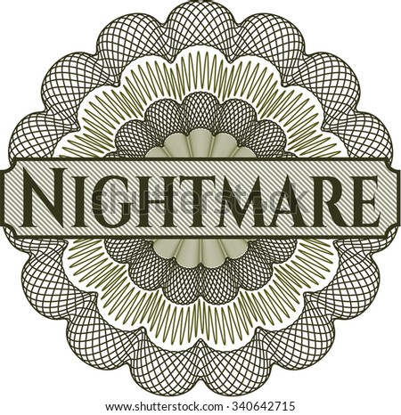 Nightmare abstract rosette - stock vector